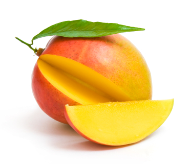 Mango fruit with slice taken out